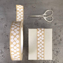 Load image into Gallery viewer, White Dots Eco Paper Tape for Parcels