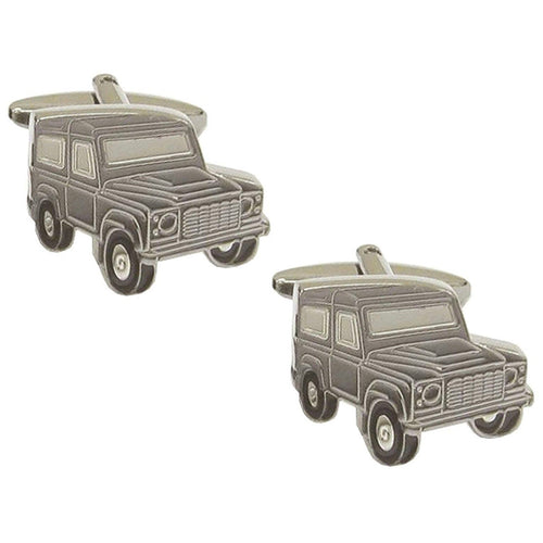 Grey Land Rover Cufflinks - La Di Da Interiors