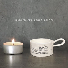 Load image into Gallery viewer, Good Friends Light Up the World Tealight Holder