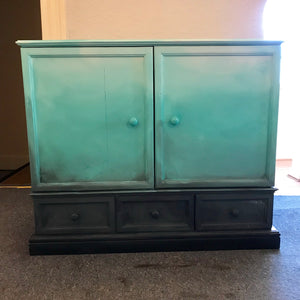 Sea & surf upcycled pine cupboard - La Di Da Interiors
