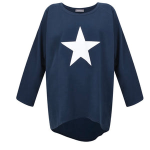 Robyn Top Navy with White Star
