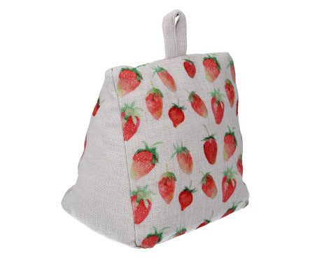 Strawberry Print Door Stop