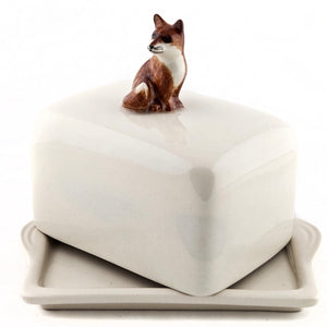 Quail ceramic butter dish - cow, fox or pheasant - La Di Da Interiors