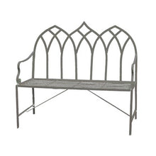 Load image into Gallery viewer, Gothic Cream Metal Garden Bench