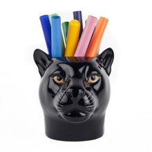 Load image into Gallery viewer, Panther Pencil Pot by Quail Ceramics