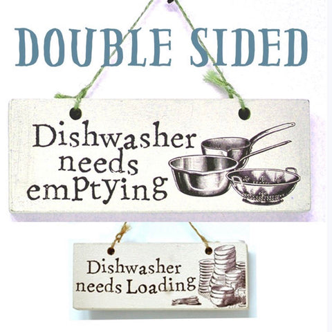 Dishwasher Emptying Reminder Double Sided Sign