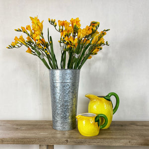 Yellow Freesia Set of 3 Faux Flowers