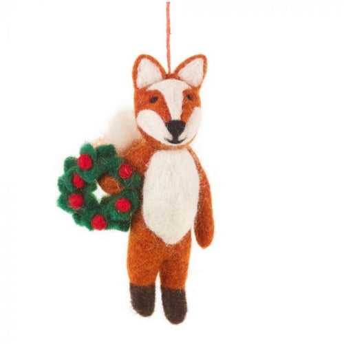 freddy the festive fox christmas tree decoration