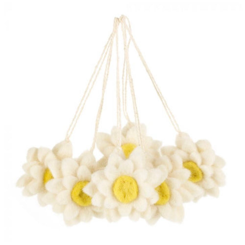 felt daisy hanging decorations