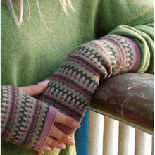 Load image into Gallery viewer, Cashmere Blend Geo Wrist Warmers and Snood