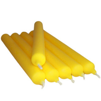 Bright Yellow Dinner Candles Set of Four
