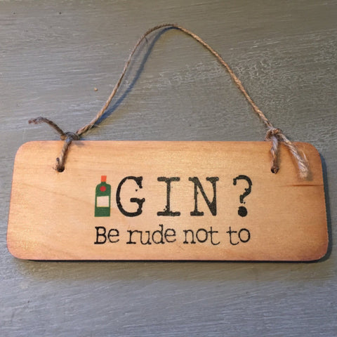 Gin? Be rude not to sign
