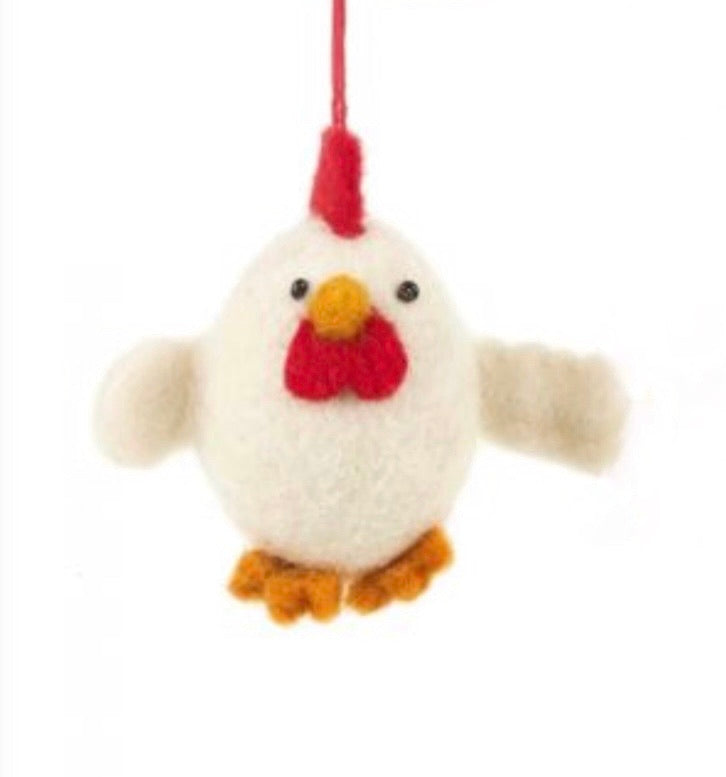 White Easter Chick Hanging Decoration