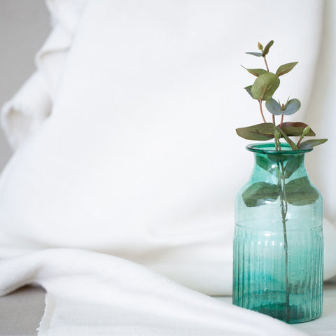 Recycled glass small flower vase