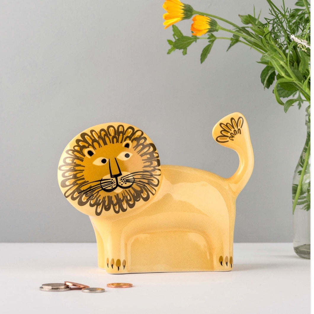 Lion Ceramic Money Box