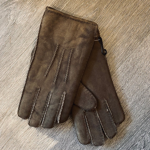Gents suede sheepskin gloves - La Di Da Interiors