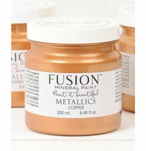 Fusion Mineral Paint Metallic Copper 250ml - La Di Da Interiors