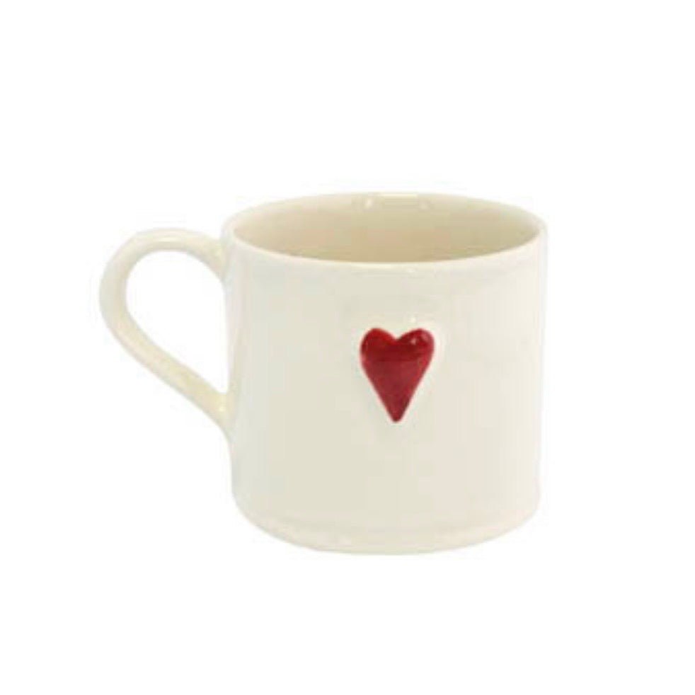 Shaker Red Heart Mini Mugs
