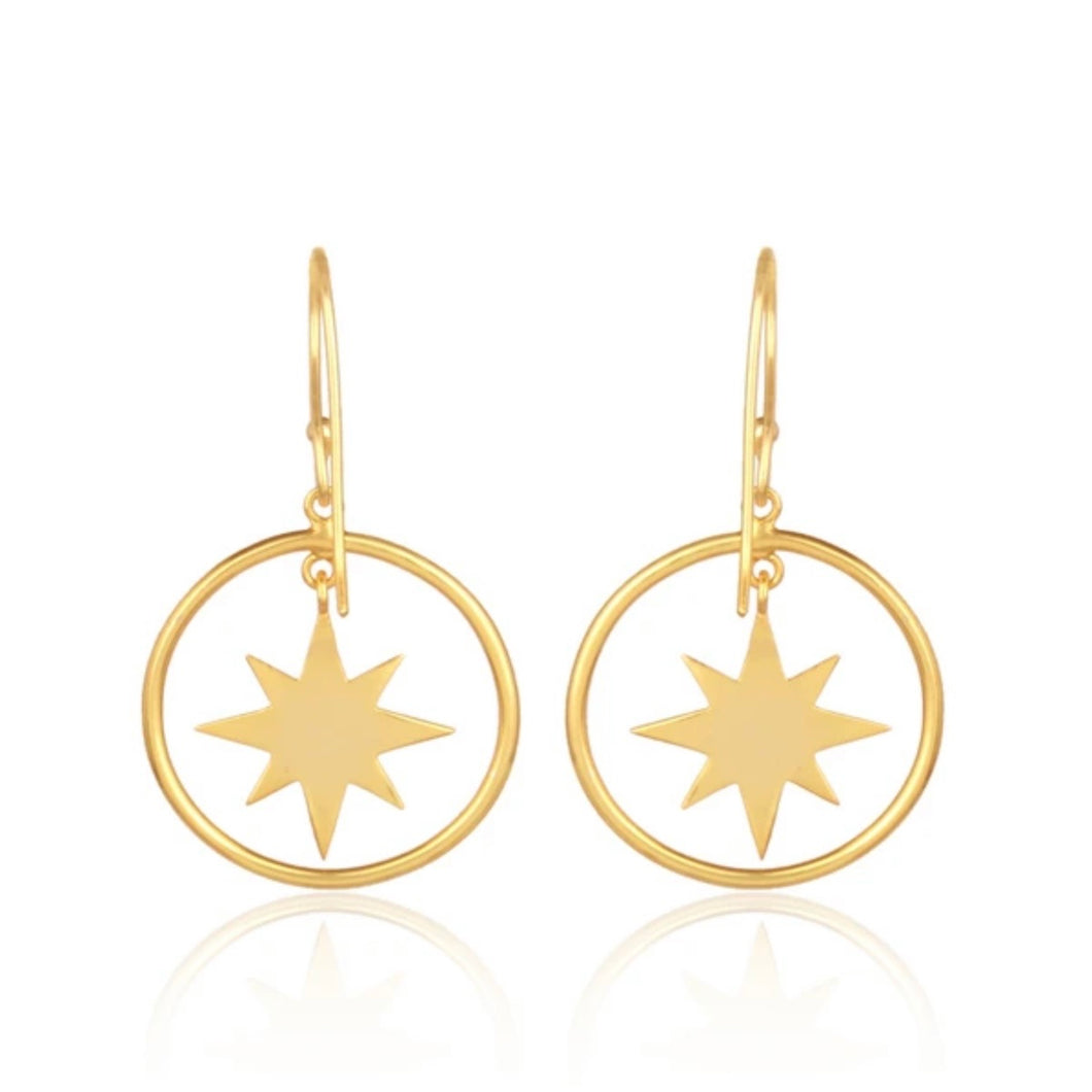 Starburst Circle Earrings