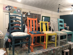 Annie Sloan Complete Chair Make Over - La Di Da Interiors
