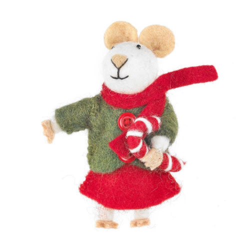 maud the mouse christmas tree decoration