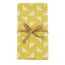 Load image into Gallery viewer, Bumble Bee Yellow Cotton Napkins Set of 4