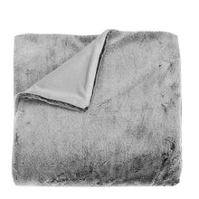 Charger l'image dans la galerie, Faux Fur Throw in Charcoal Grey