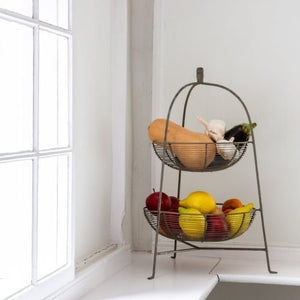 Wire storage basket rack