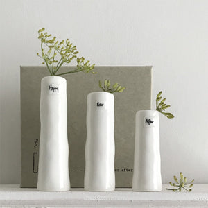 Trio of Bud Vases - Happy, Ever, After
