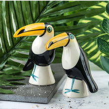 Load image into Gallery viewer, Toucan Salt and Pepper Set by Hannah Turner