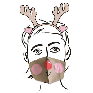 Festive Face Covering Rudolph Reindeer