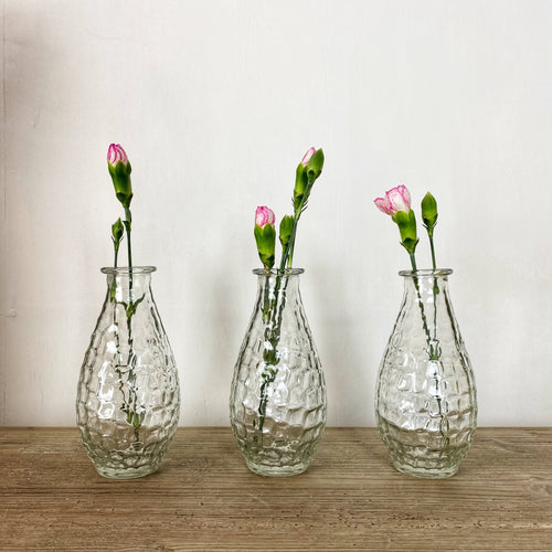 set of three mini vases