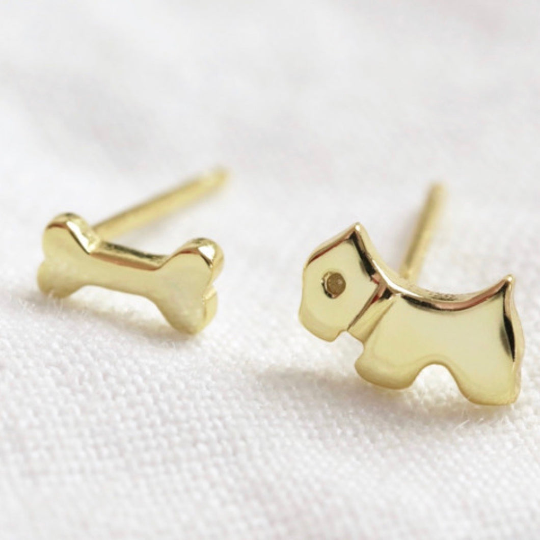 Mismatch dog and bone Stud Earrings - La Di Da Interiors