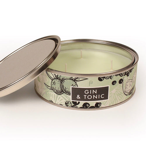 Gin & Tonic Triple Wick Scented Candle Tin - La Di Da Interiors