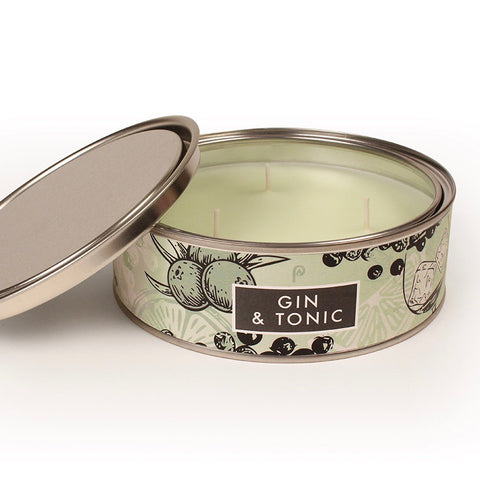 Gin & Tonic Triple Wick Scented Candle Tin