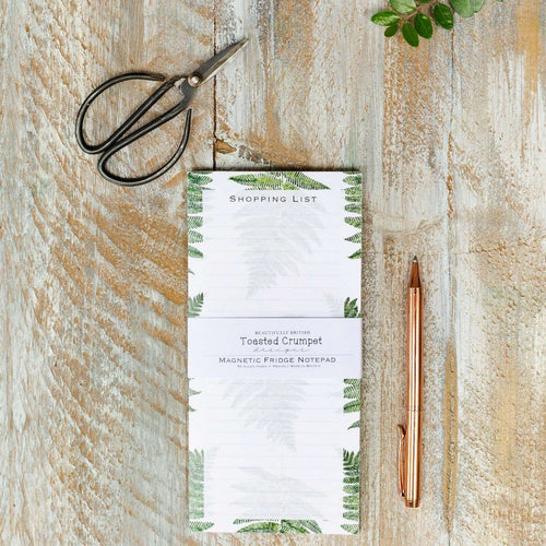 fern shopping list pad