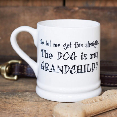 The dog is my grandchild mug