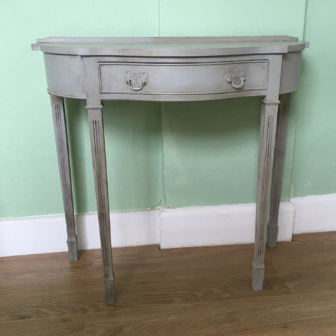 Upcycled console table in Paris Grey & Antoinette SOLD