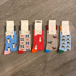 Luxury Christmas Bamboo Socks Ladies