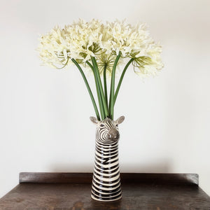 White agapanthus faux flower