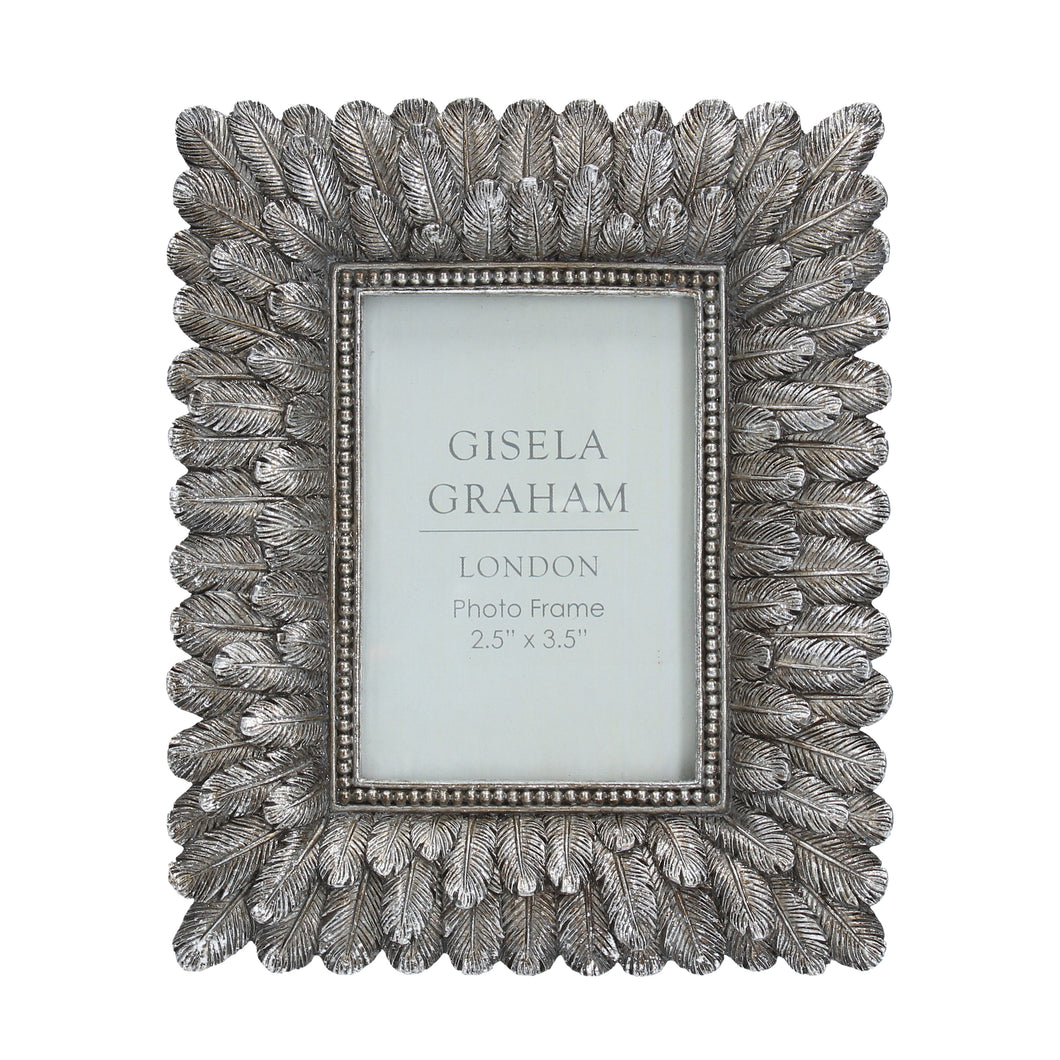 Silver Feathers Photo Frame