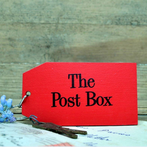 The Postbox Wooden Painted Keyring
