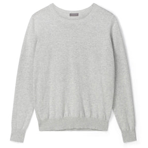 Hazel Star Pale Grey Cotton Jumper