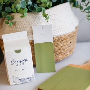 cornish milk mineral paint kelp green