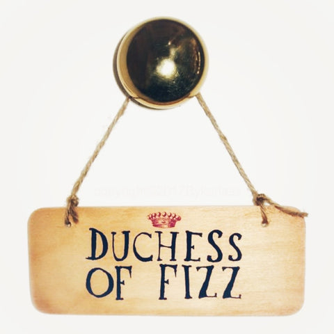 Duchess of Fizz sign