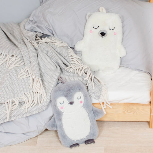 penguin cosy hot water bottle