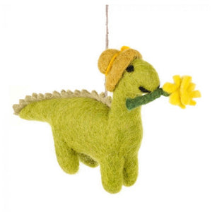 dinosaur felt easter decoration