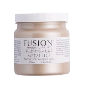 Fusion Mineral Paint Metallic Champagne Gold 250ml