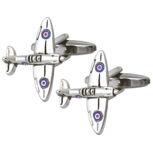 Spitfire Fighter Aeroplane Cufflinks - La Di Da Interiors