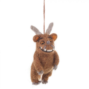 grizzle bear felt christmas decoration gruffalo